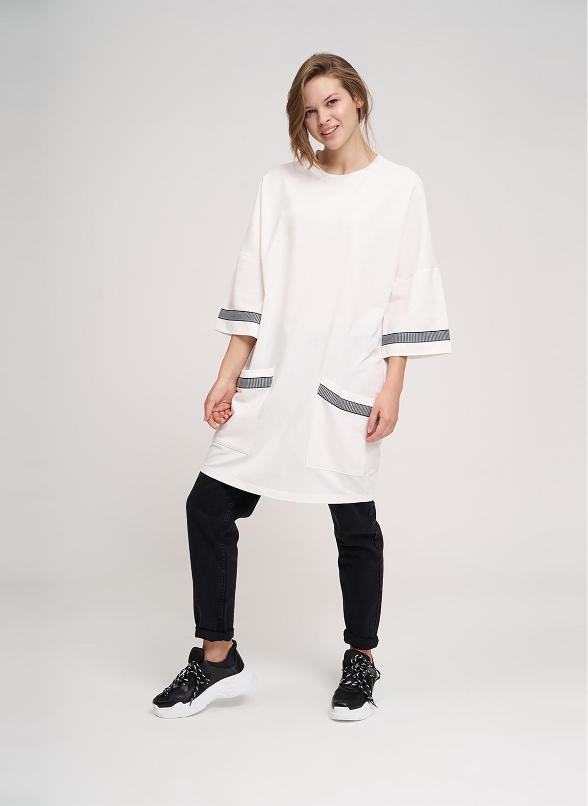 Mizalle Youth Kadın Sweatshirt Beyaz M Beden